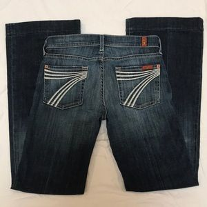 7 for all mankind dojo jeans size 26 inseam 31""